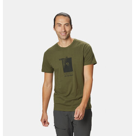 Mountain Hardwear Straight Up Maglietta a maniche corte Uomo verde oliva
